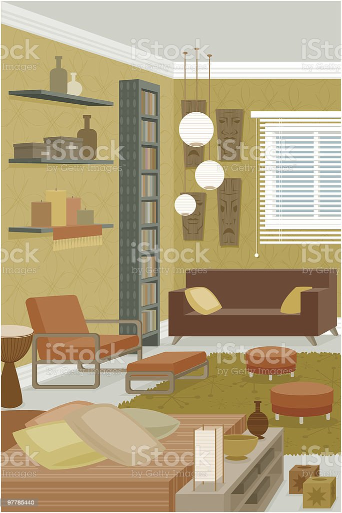 Funky Room royalty-free stock vector art