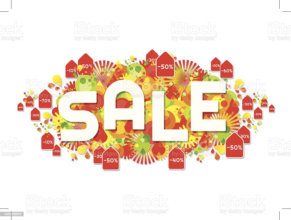 Funky Sale Background royalty-free stock vector art