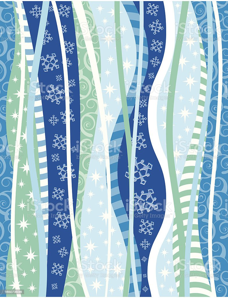 Funky Snow Background royalty-free stock vector art