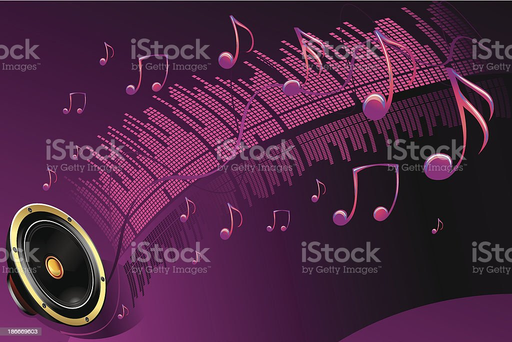 Funky sound royalty-free stock vector art
