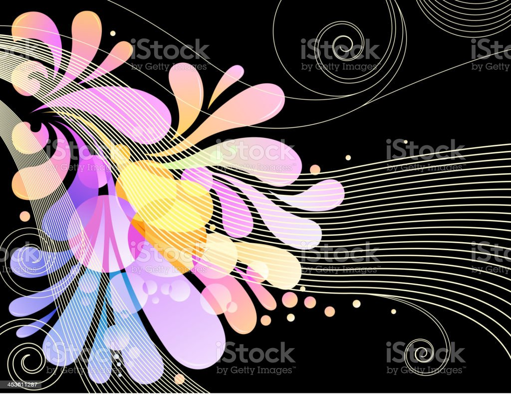 funky striped backround royalty-free stock vector art