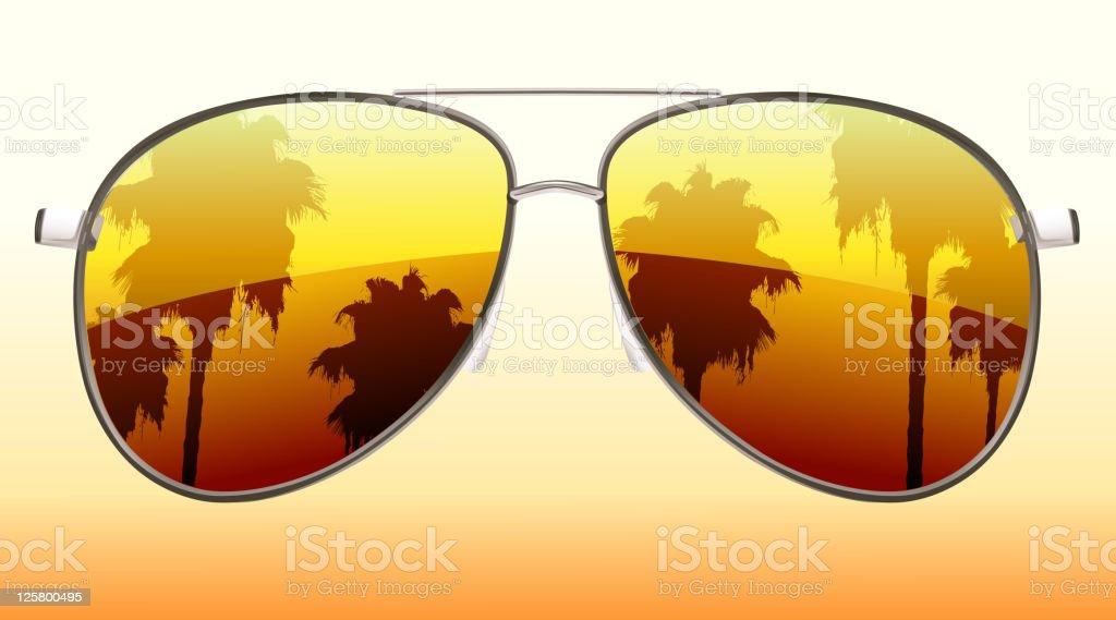 funky sunglasses vector art illustration