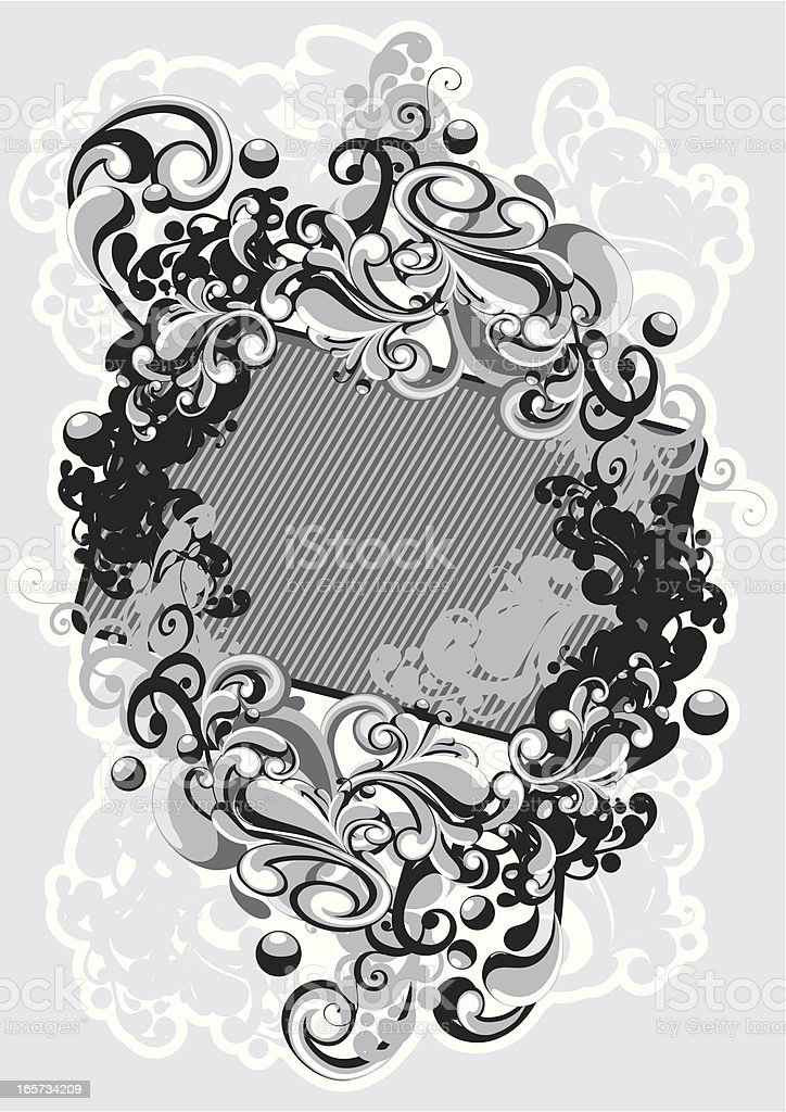 Funky tag royalty-free stock vector art