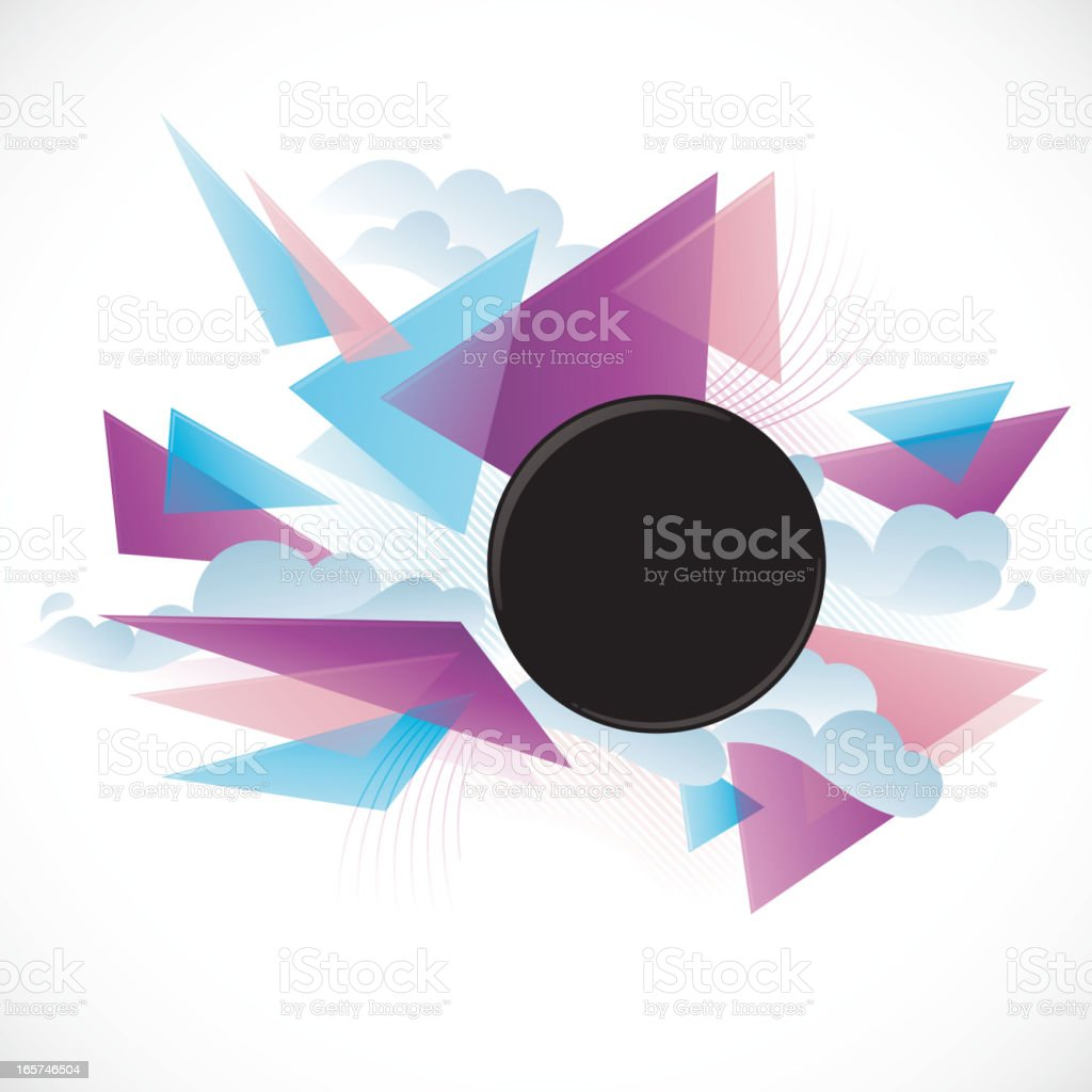 Funky Triangle Explosion Frame royalty-free stock vector art