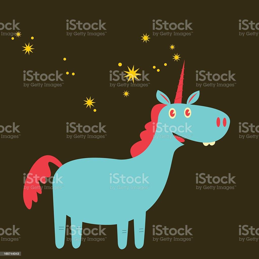 Funky Unicorny vector art illustration