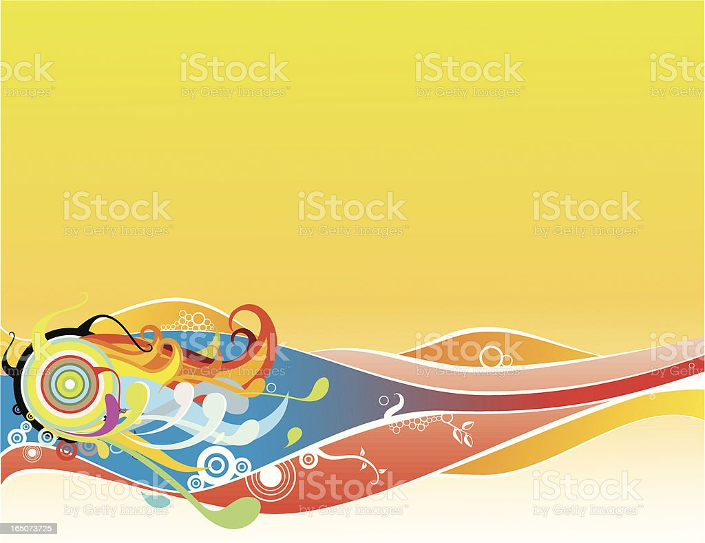 Funky waves royalty-free stock vector art