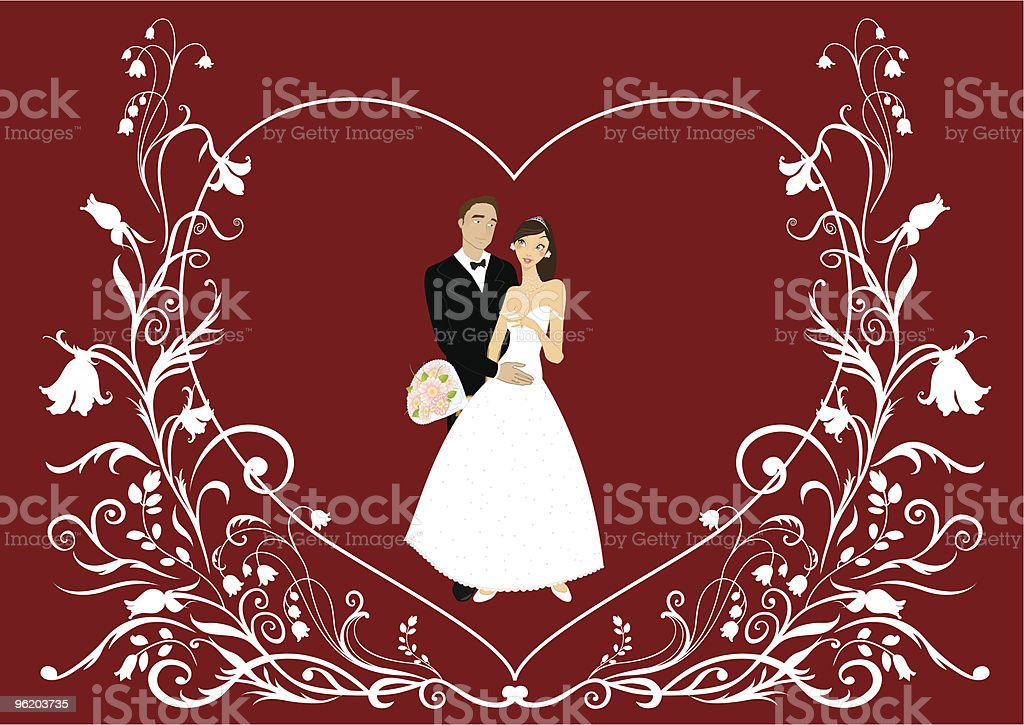 funky wedding invitation royalty-free stock vector art