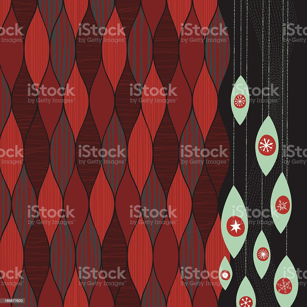 Funky-Retro Xmas ornaments background royalty-free stock vector art