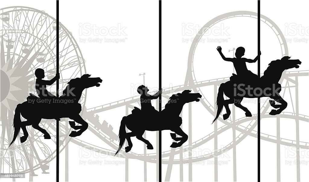 Fun'n Rides royalty-free stock vector art