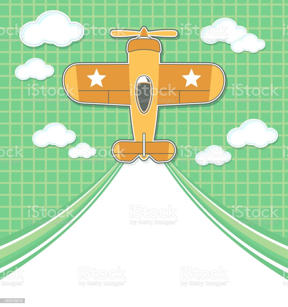 funny airplane toy cartoon background royalty-free stock vector art