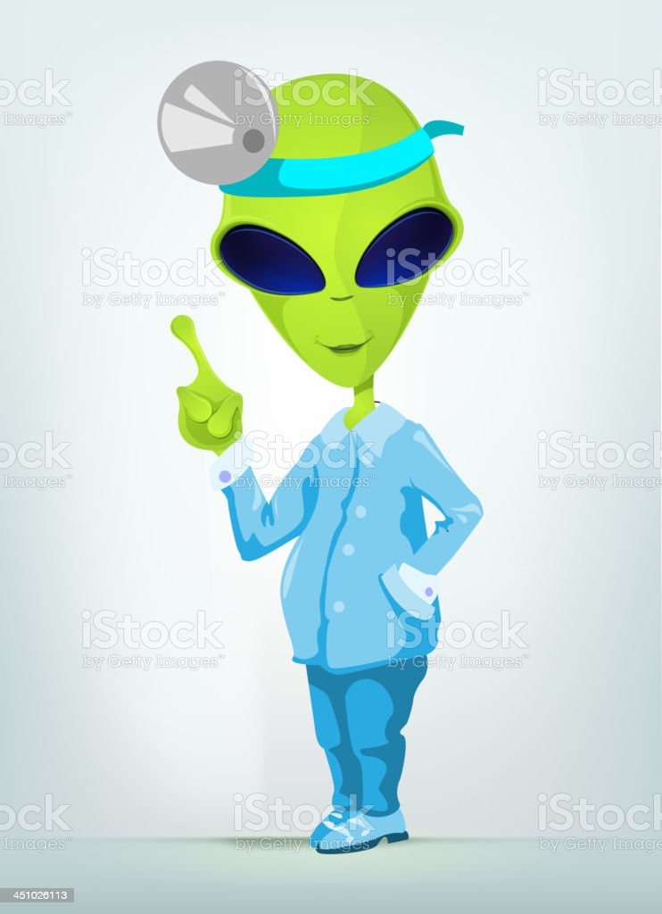 Funny Alien royalty-free stock vector art