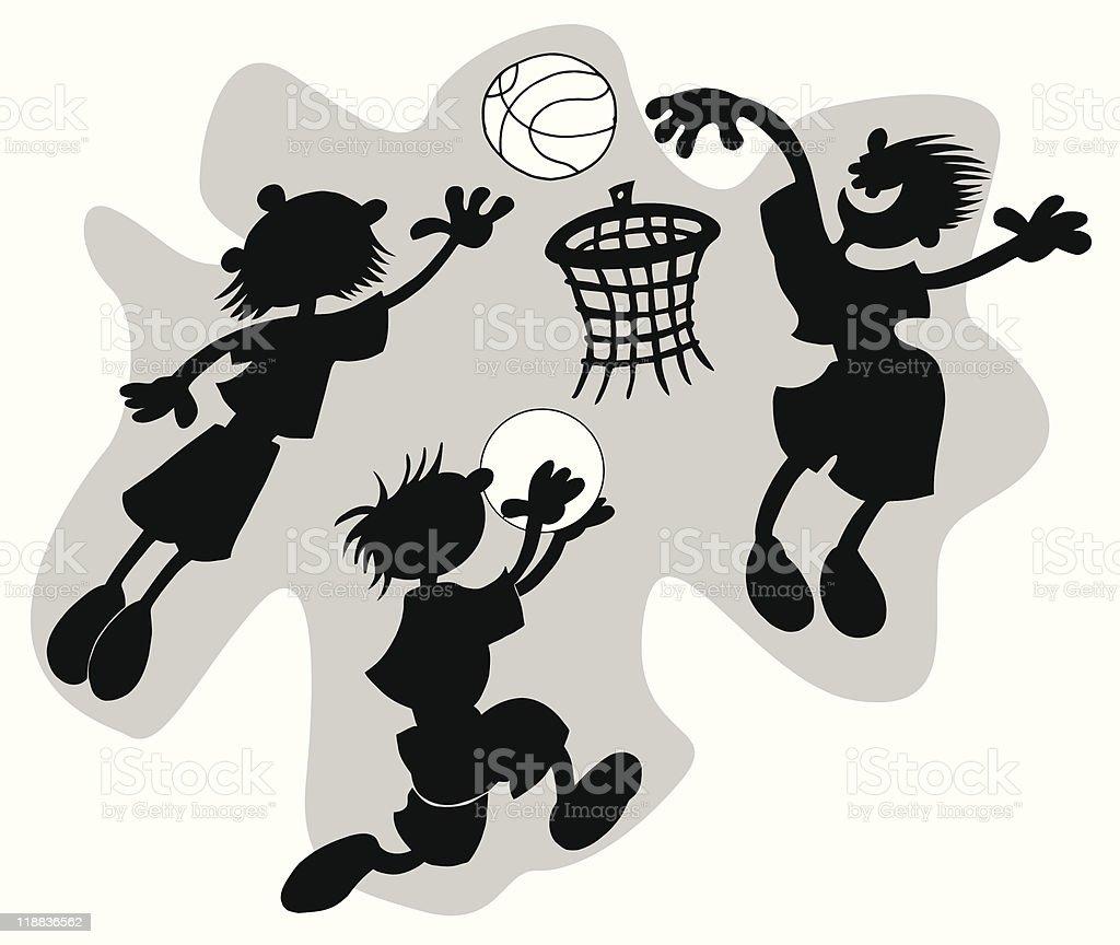 funny basketball royalty-free stock vector art