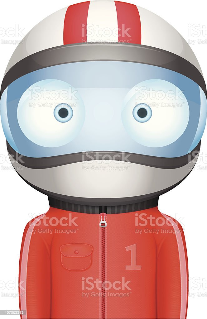 Funny Bighead Racer royalty-free stock vector art