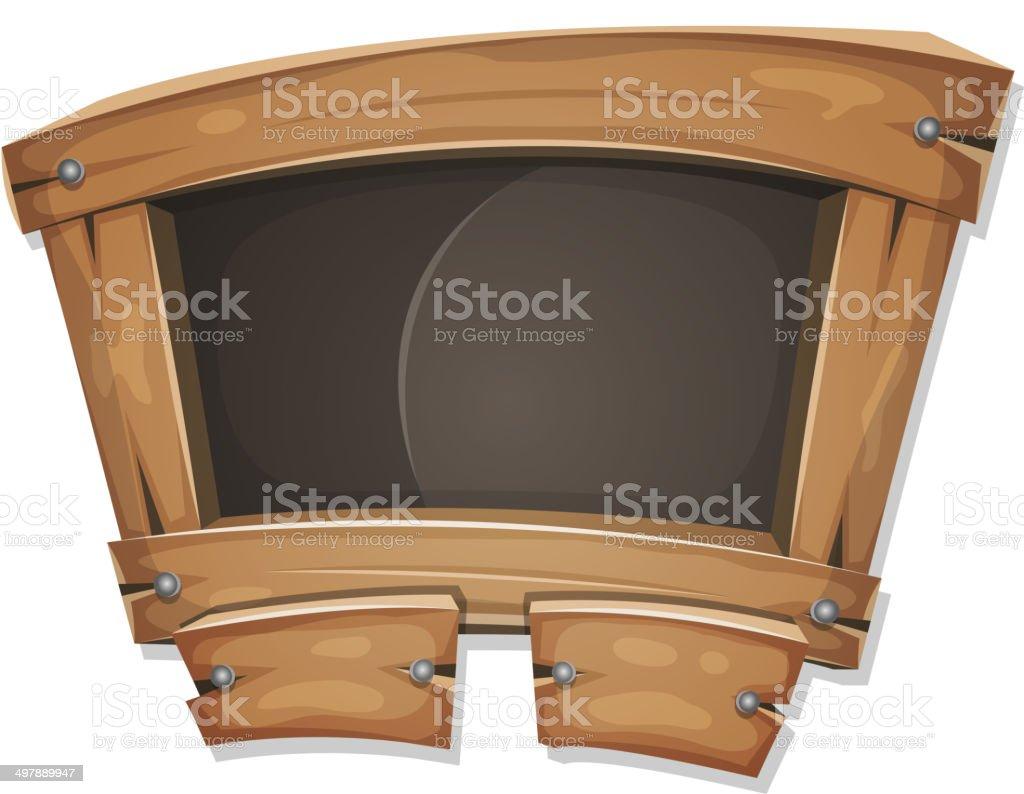 Funny Blackboard Sign For Ui Game vector art illustration