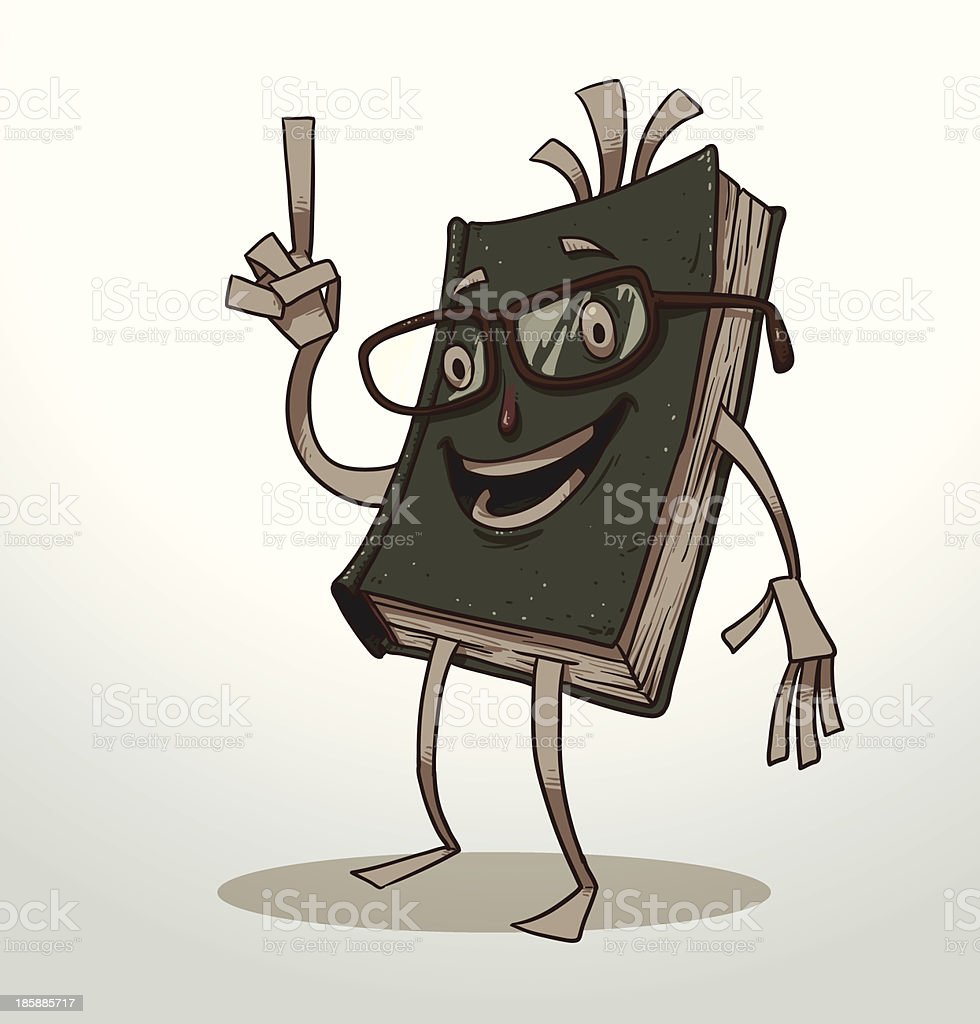 Funny book green royalty-free stock vector art