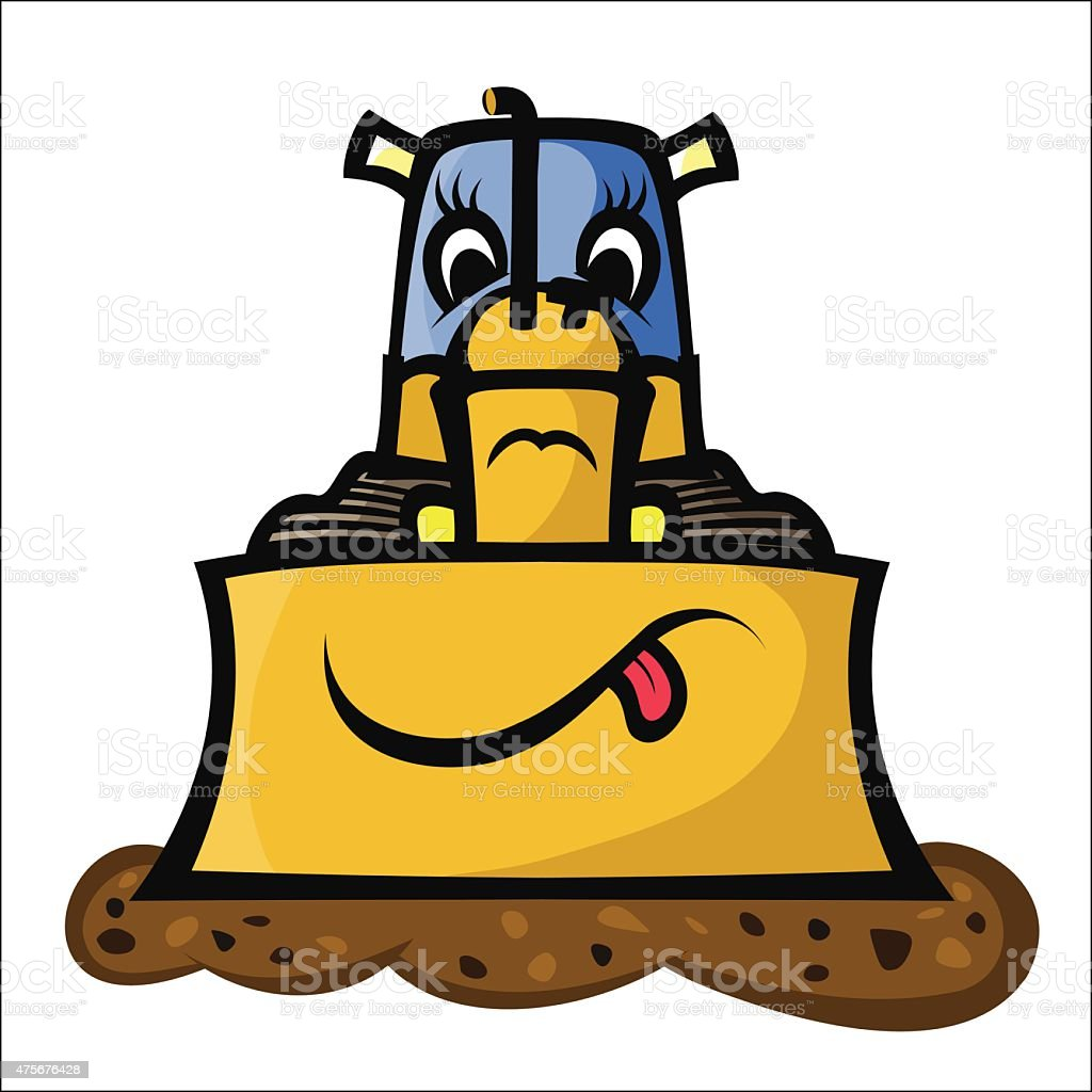Funny Bulldozer royalty-free stock vector art