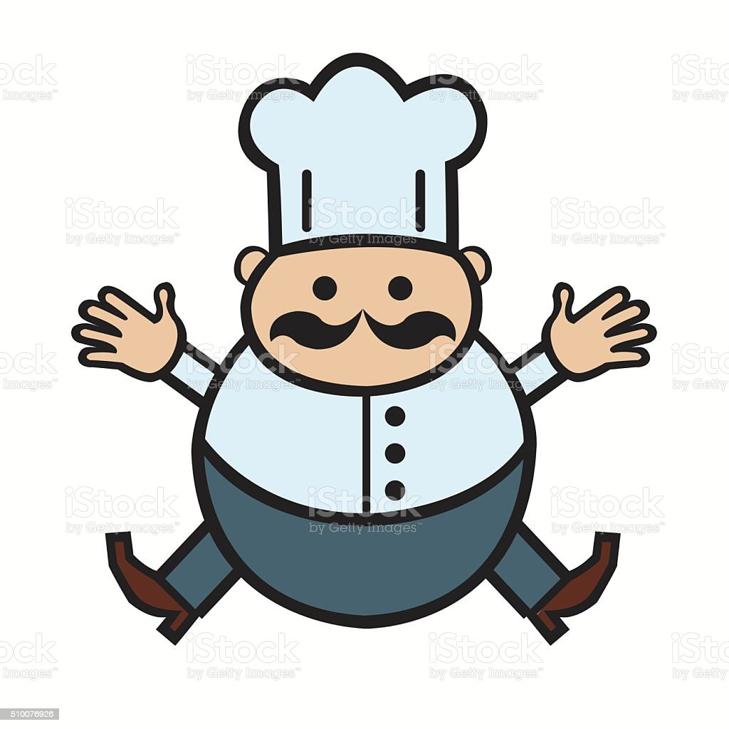 funny cartoon cook royalty-free stock vector art