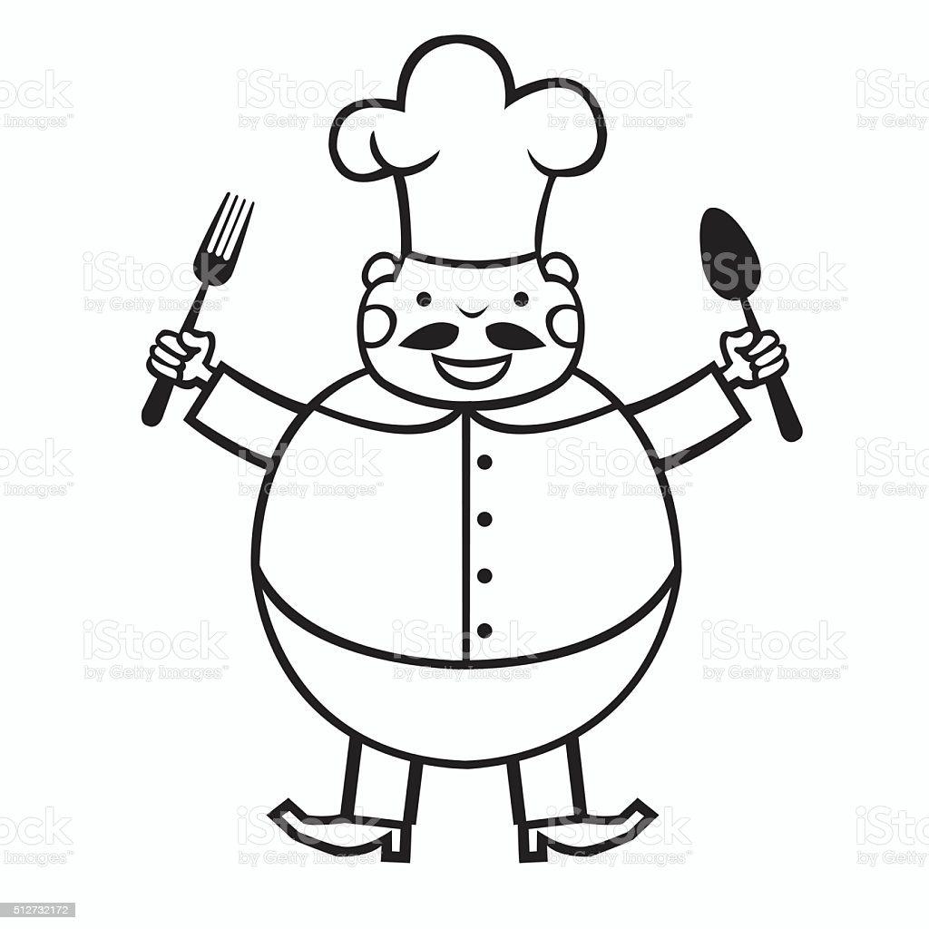 funny cartoon cook royalty-free stock vector art