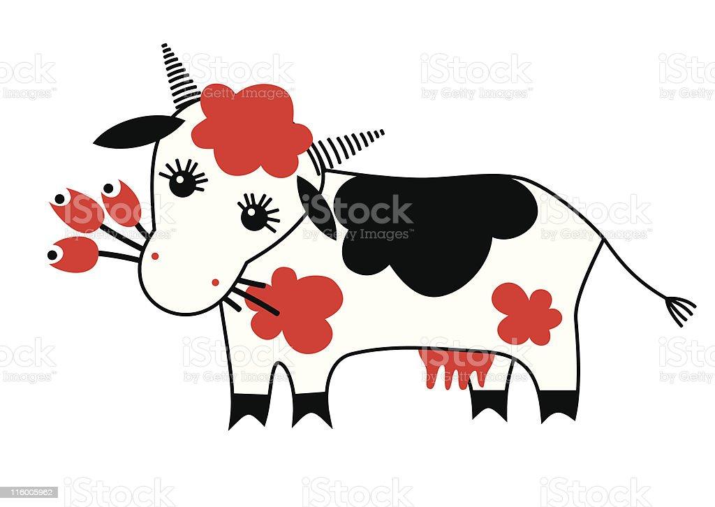 funny cartoon cow royalty-free stock vector art