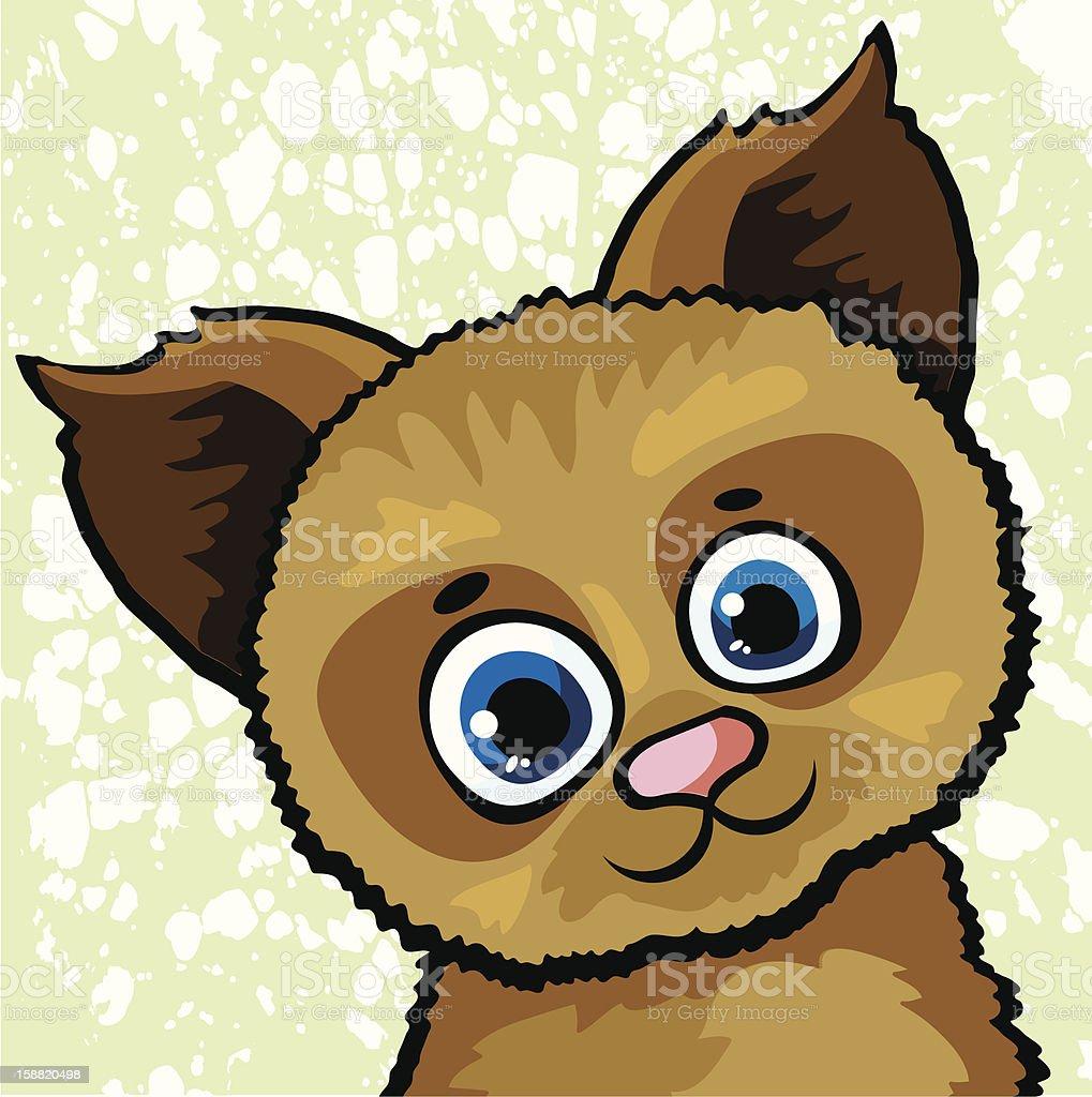 Funny cartoon dog royalty-free stock vector art