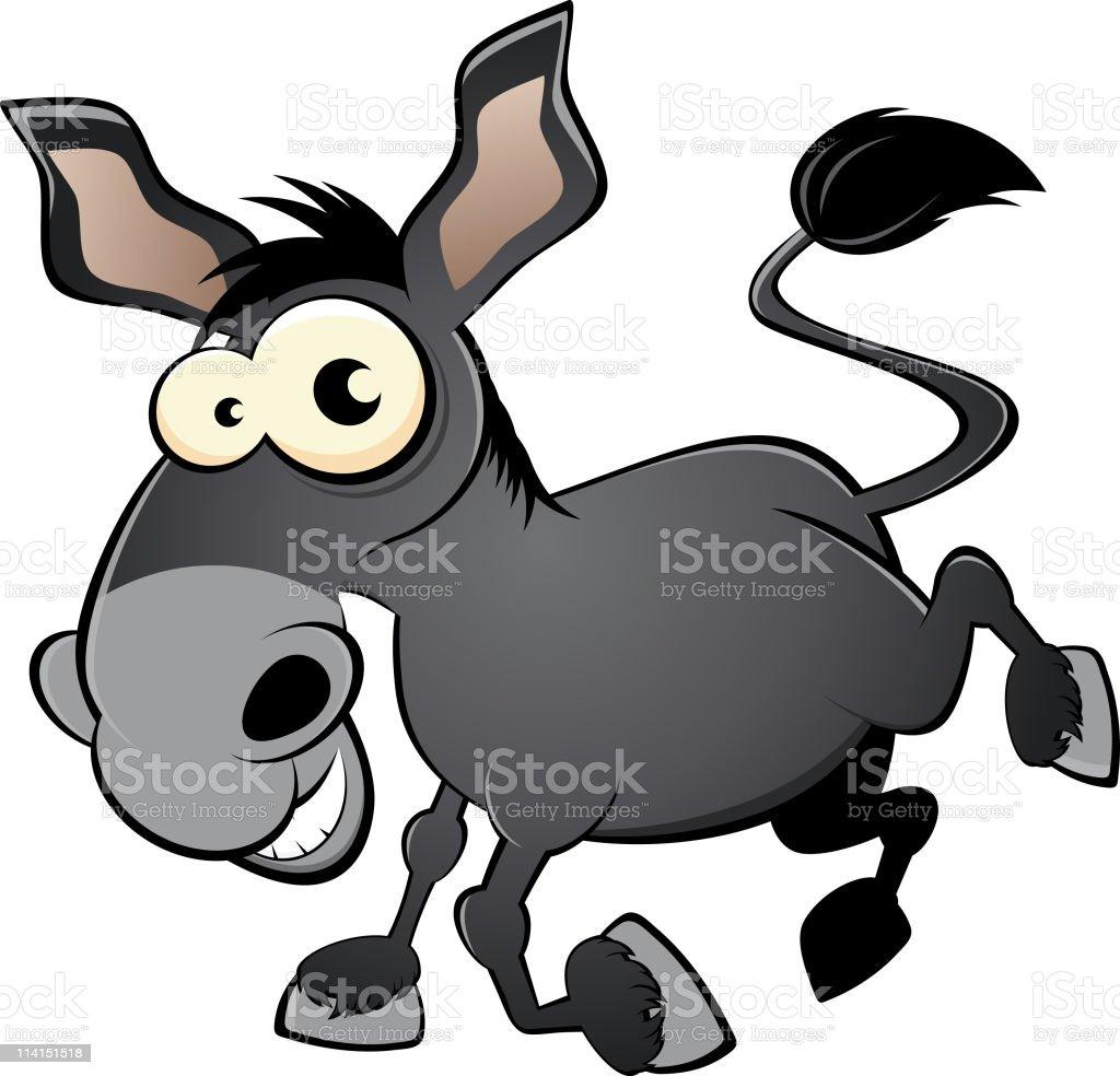 funny cartoon donkey royalty-free stock vector art