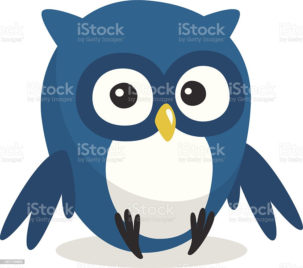 Funny cartoon owl royalty-free stock vector art