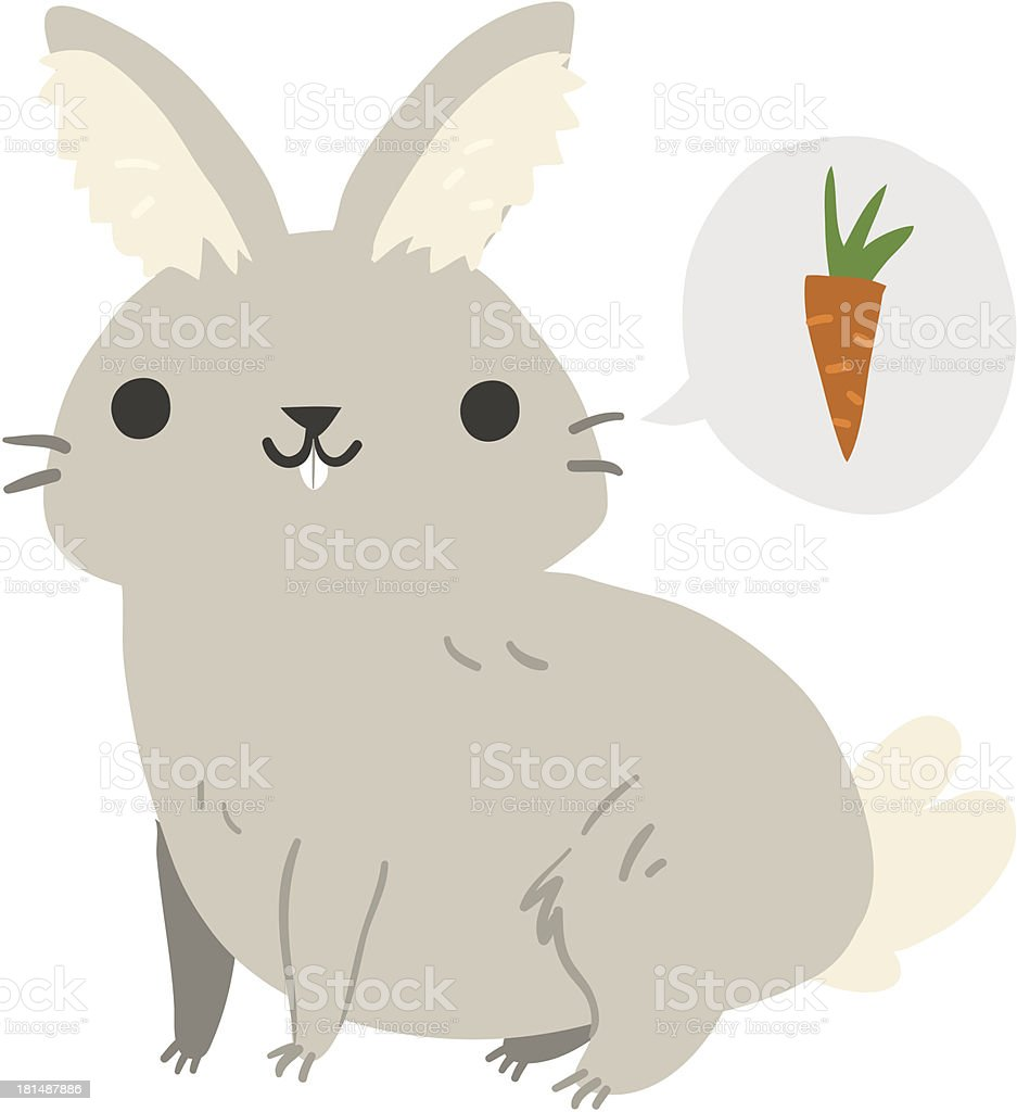 Funny cartoon rabbit illustration mascot royalty-free stock vector art