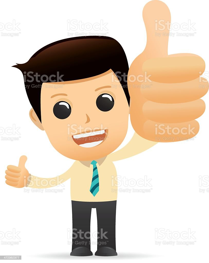 Funny Cartoon with the Excellence concept royalty-free stock vector art