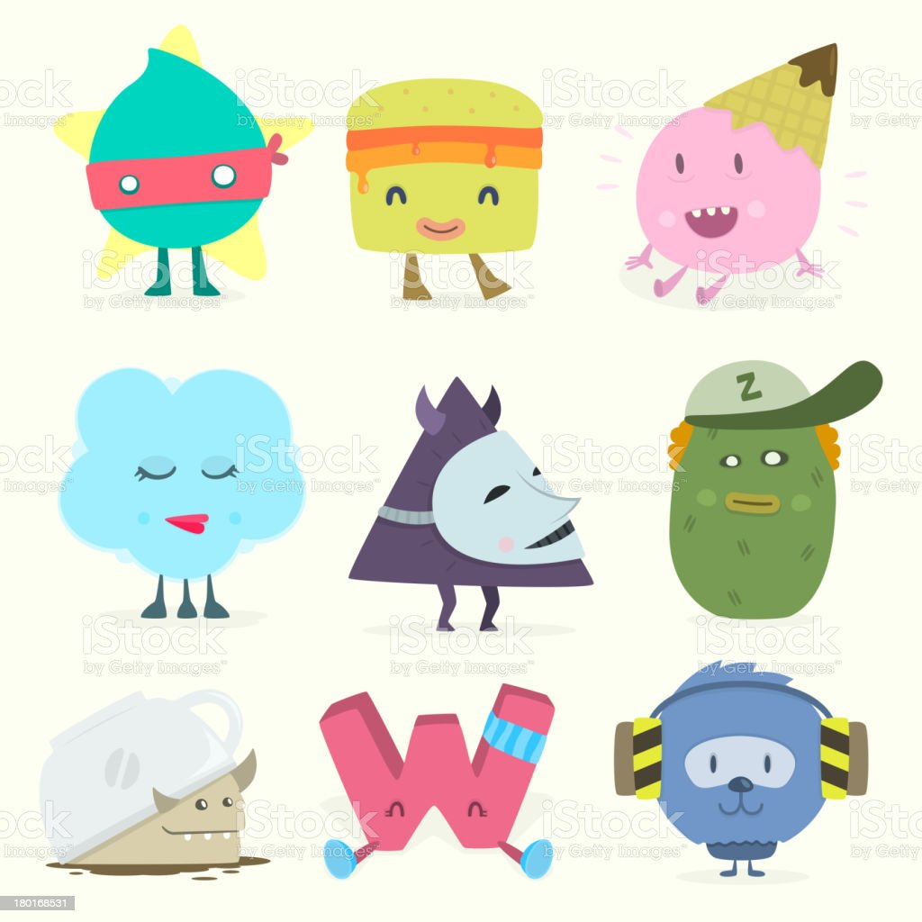funny characters royalty-free stock vector art