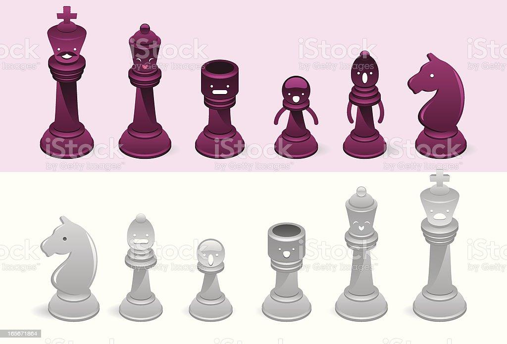Funny chess royalty-free stock vector art