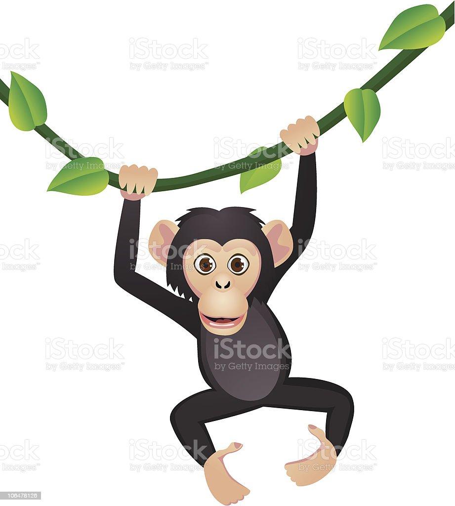 Funny chimp royalty-free stock vector art