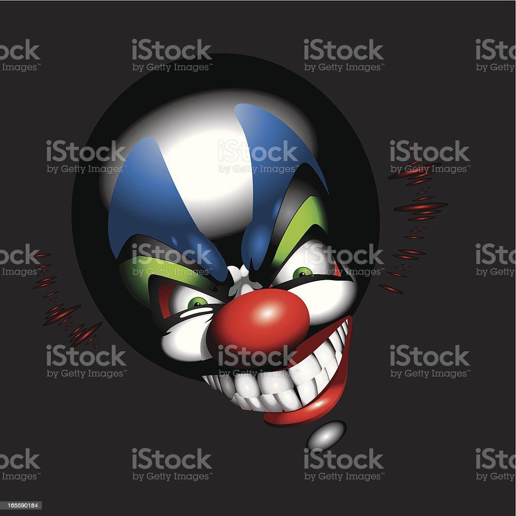 funny clown face royalty-free stock vector art