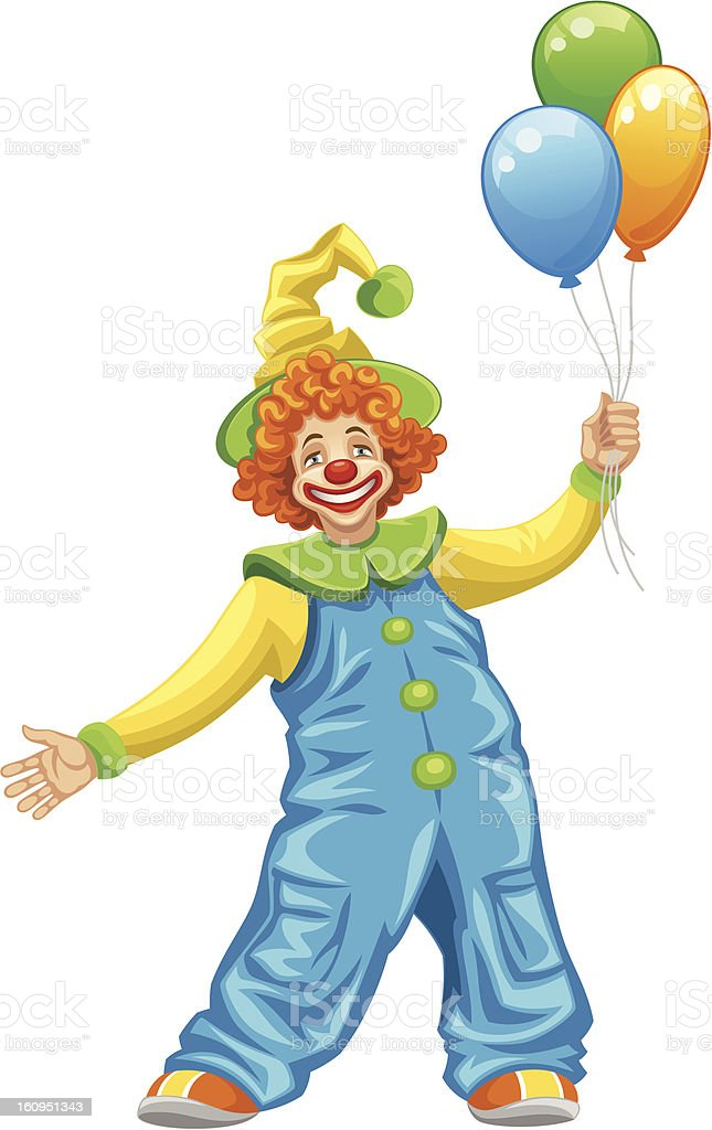 Funny clown royalty-free stock vector art