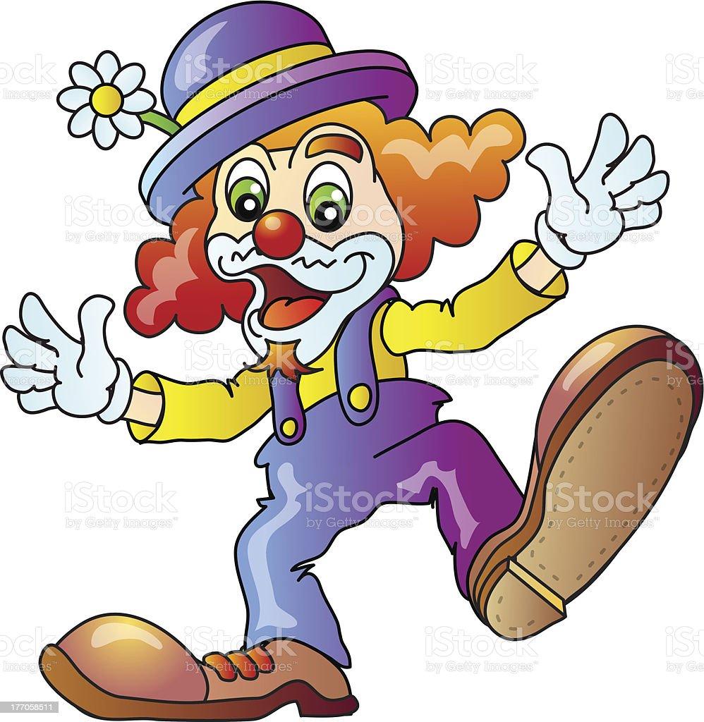 Funny Clown royalty-free stock vector art