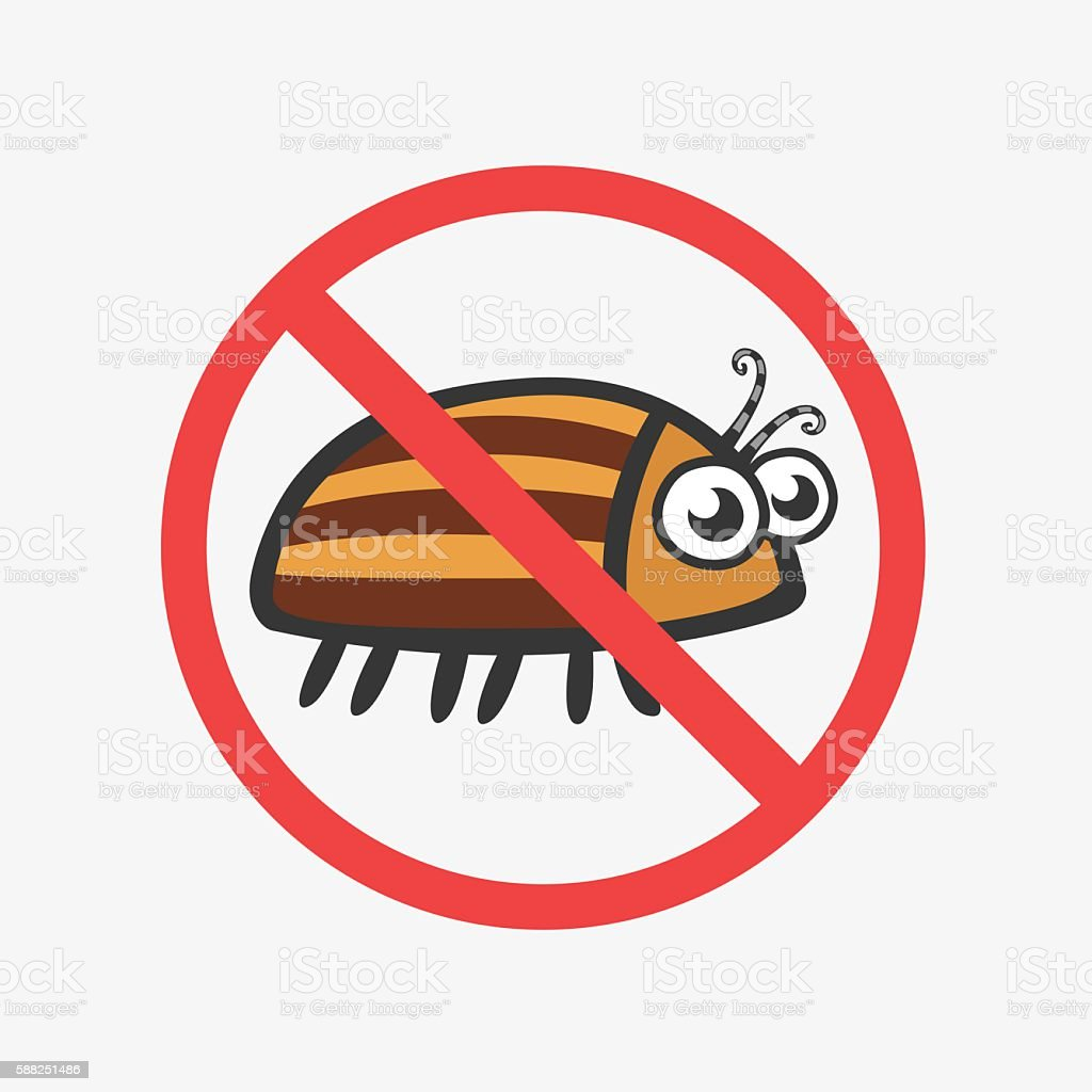 Funny Colorado potato beetle. Flat Vector icons for your design vector art illustration