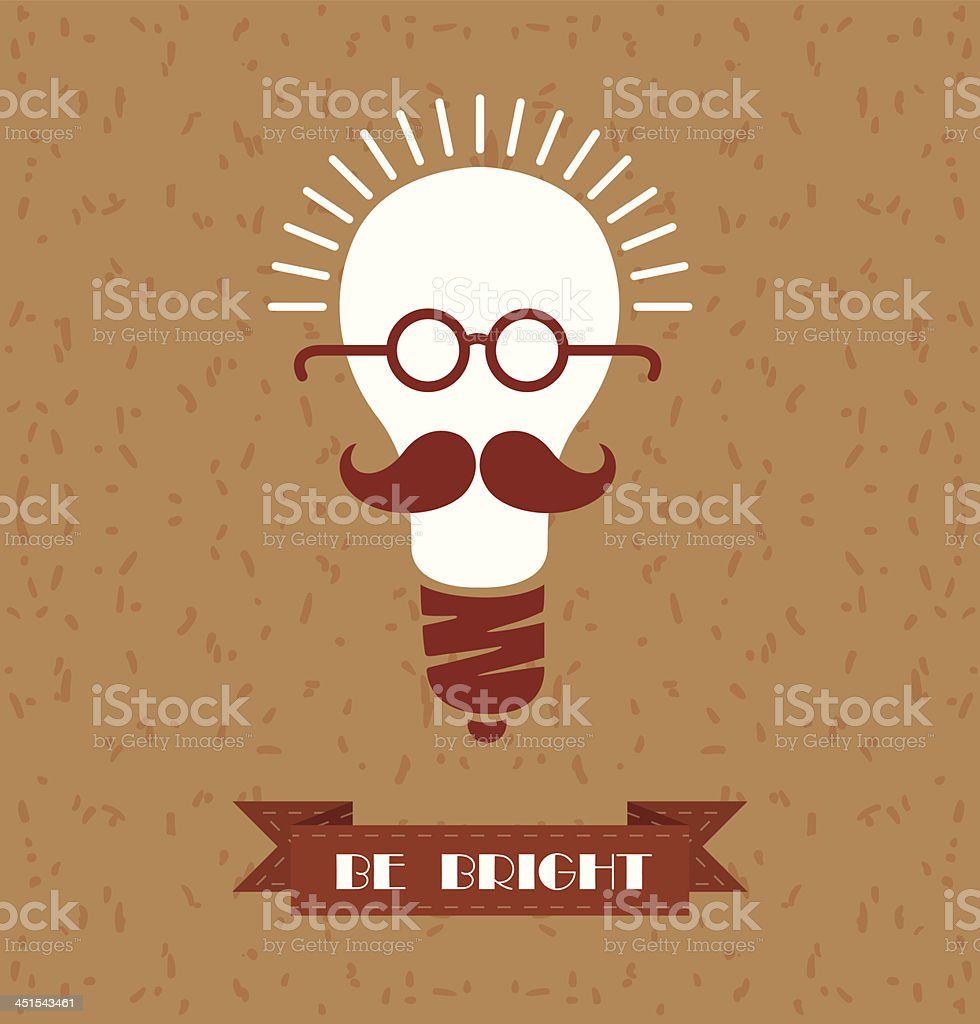 Funny concept, Be bright vector art illustration