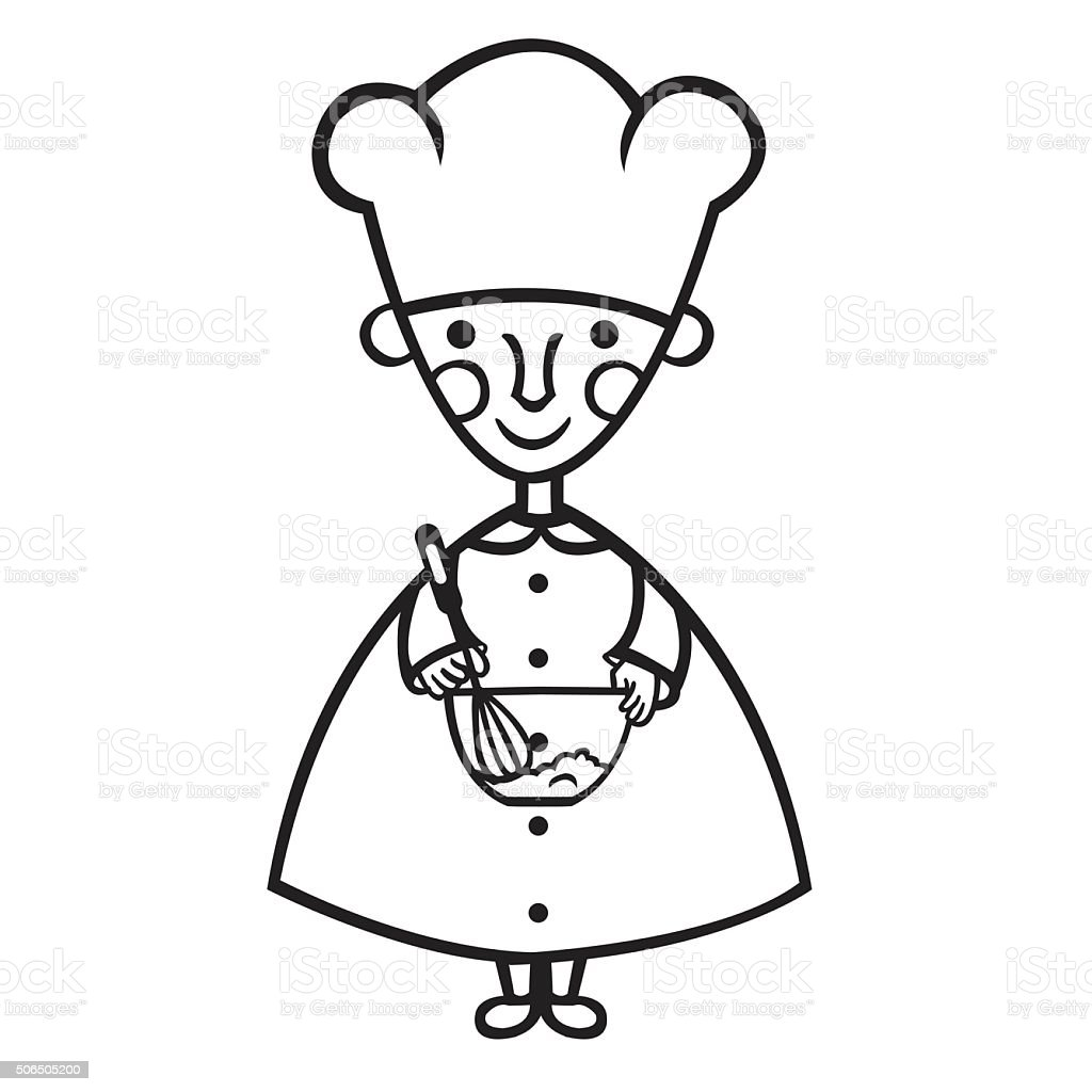 funny cook cartoon royalty-free stock vector art