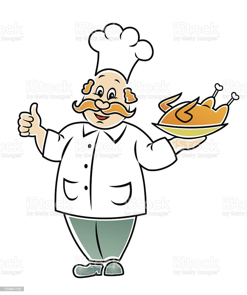 Funny cook. royalty-free stock vector art