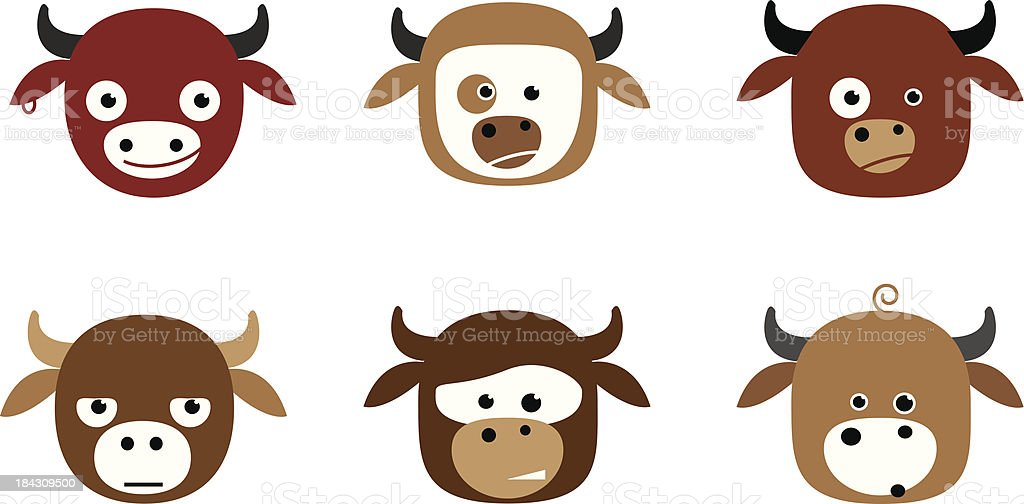 Funny Cows royalty-free stock vector art