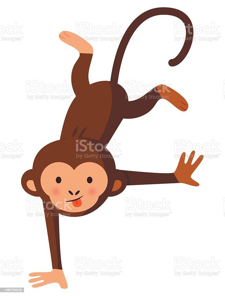 Funny crazy monkey, vector illustration vector art illustration