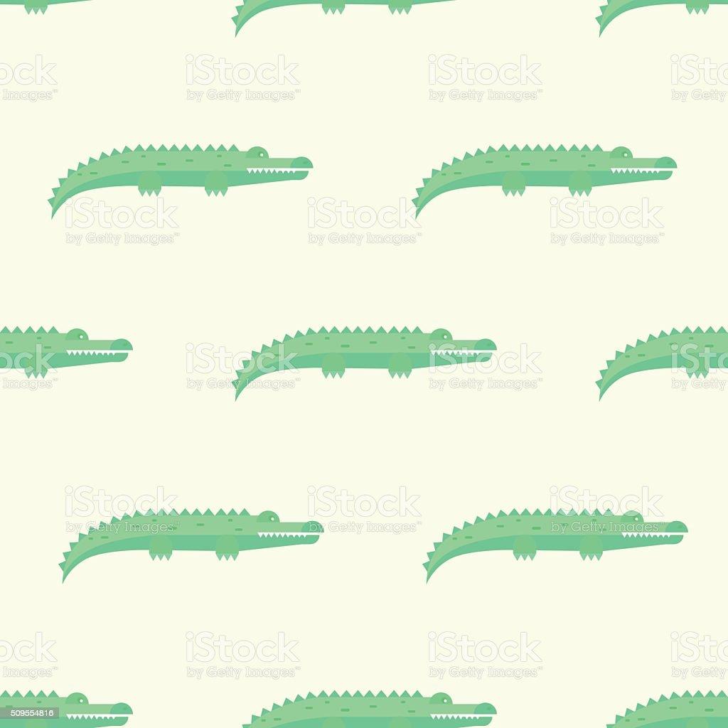 Funny Crocodiles Pattern. Vector Illustration vector art illustration