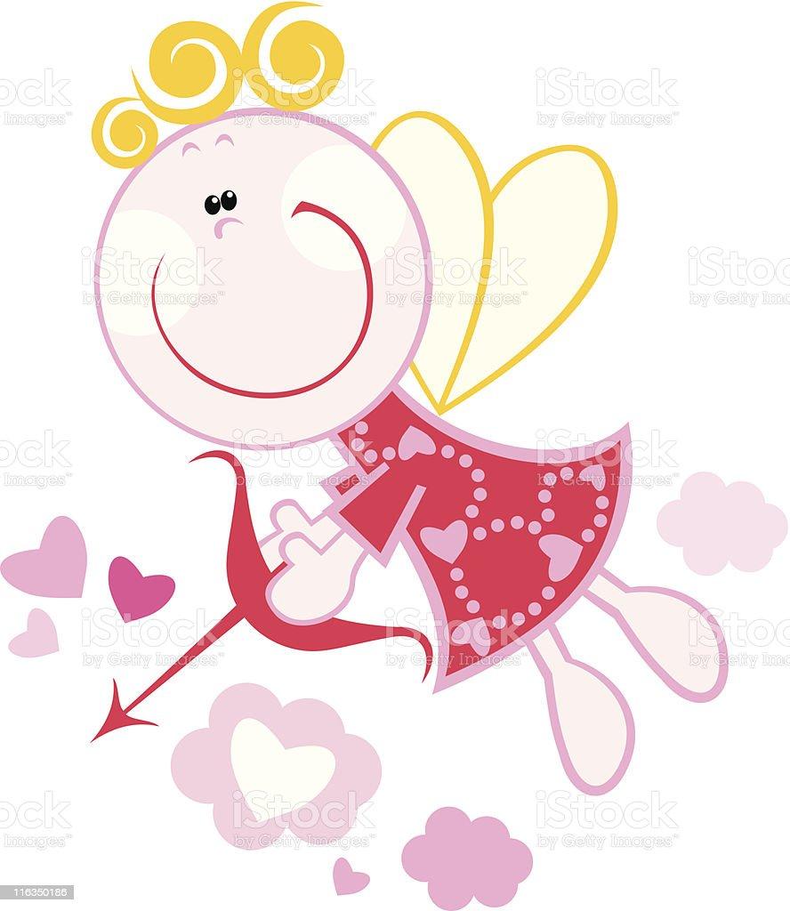 Funny Cupid royalty-free stock vector art