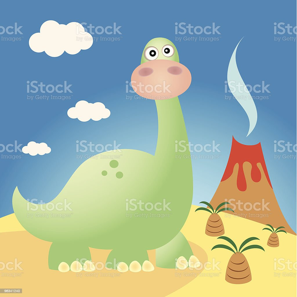 Funny Dinosaur Brontosaurus royalty-free stock vector art