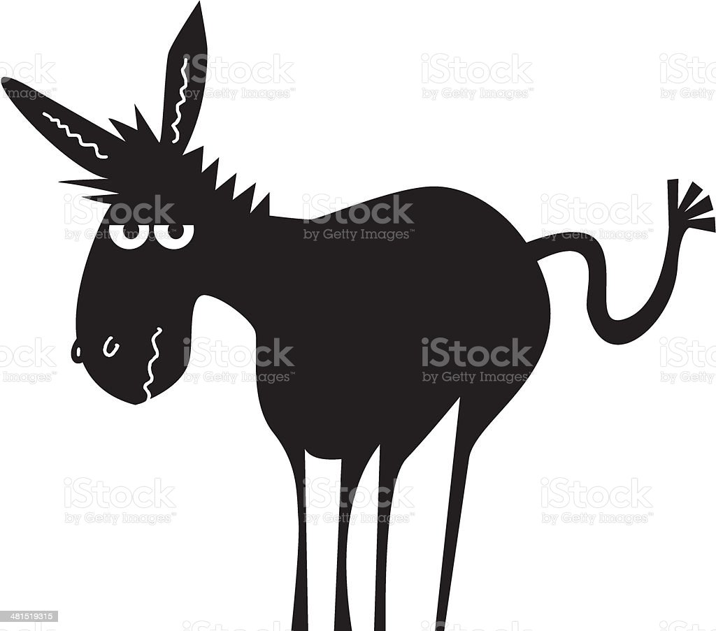 Funny donkey vector art illustration