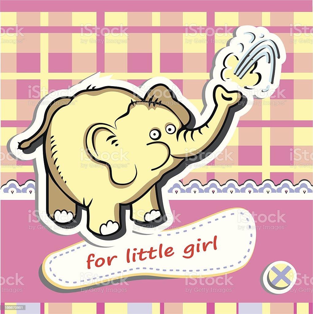 Funny elephant royalty-free stock vector art