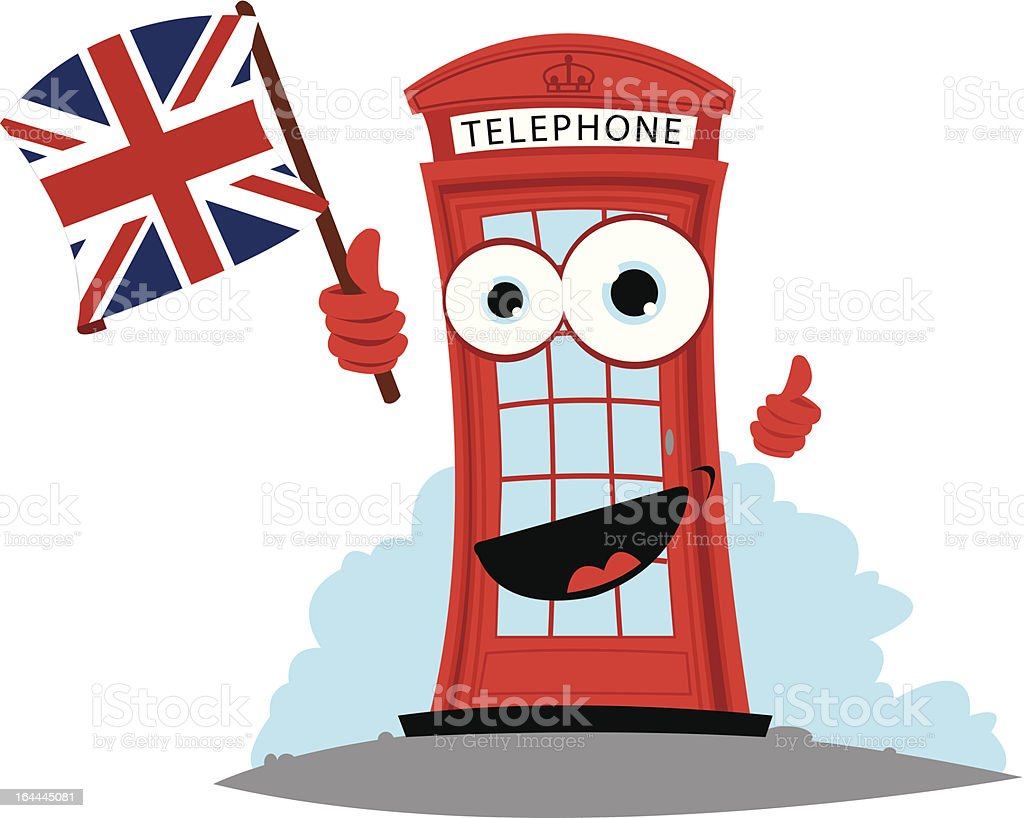 Funny English Phone Box royalty-free stock vector art