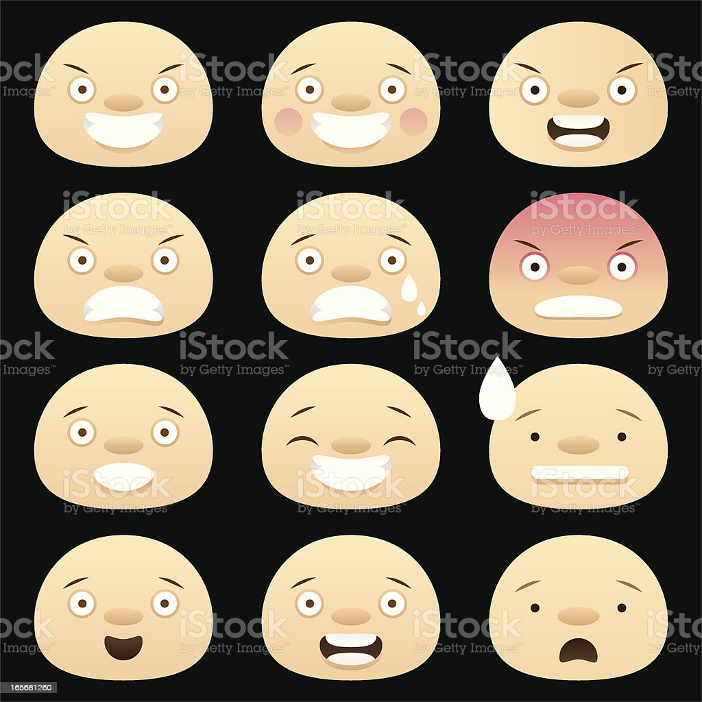 Funny expressions royalty-free stock vector art