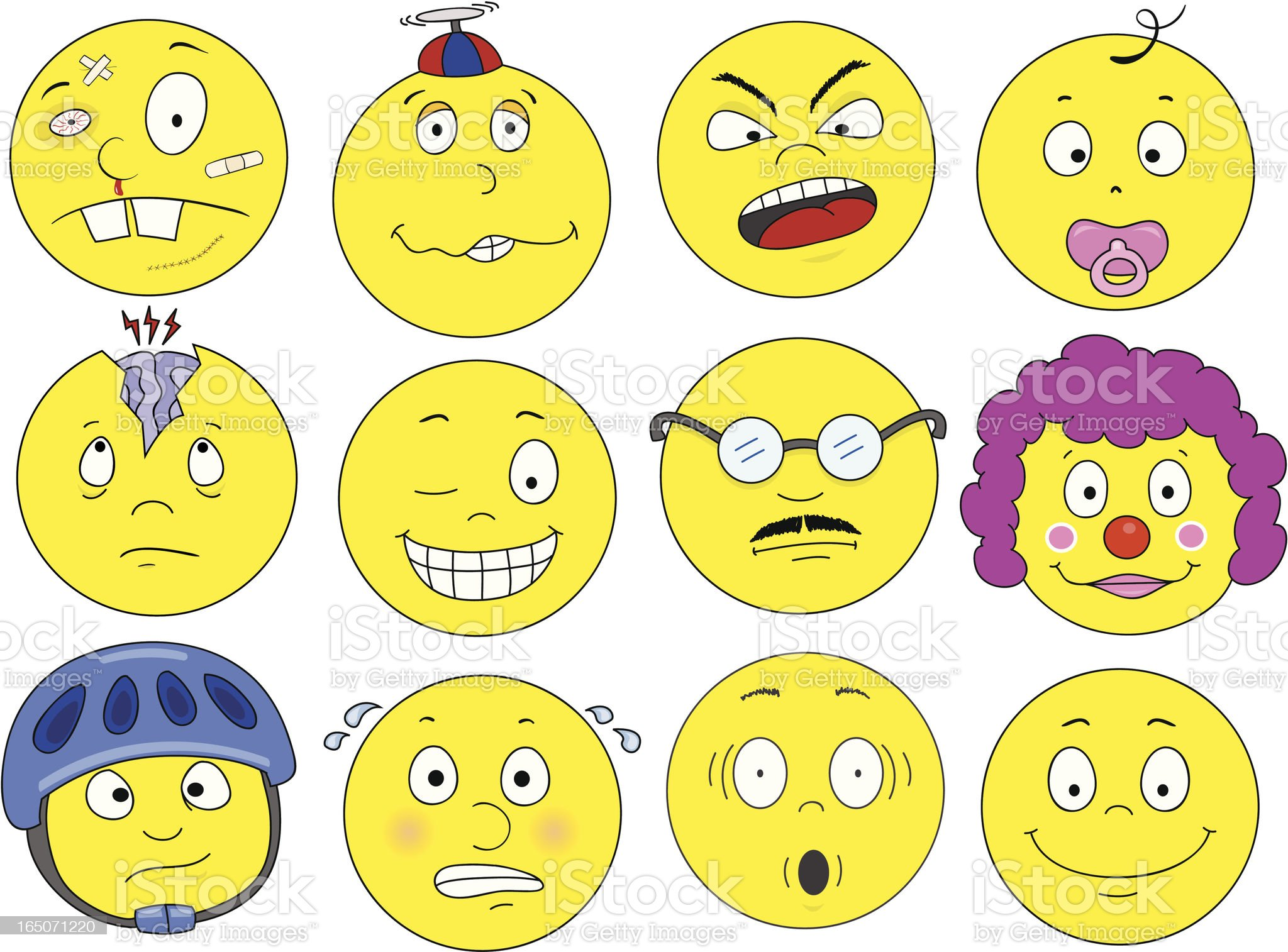 Funny Faces royalty-free stock vector art