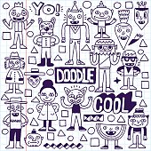 Funny Fictitious Doodle Characters Set 3.