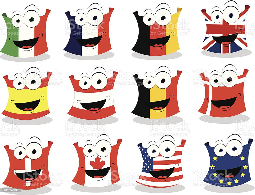 Funny Flags - Part II royalty-free stock vector art